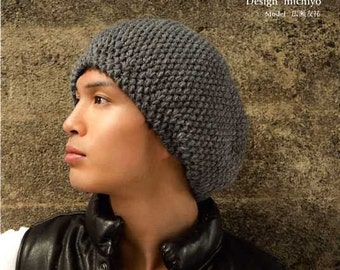Mens Knit HATS and GOODS - Japanese Pattern Book MM