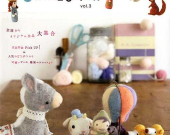 FELT WOOL MASCOT Collection Vol 3 - Japanese Craft Book