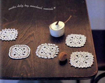 White CROCHET Lace Motifs - Japanese Craft Book