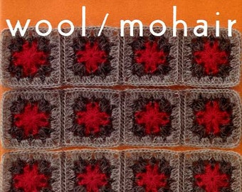 Out of Print / Wool / Mohair Crochet Motifs - Japanese Craft Book