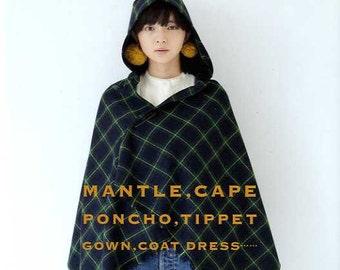 Mantle Cape Poncho Tippet Coat Dress by Ryoko Ttsukiori - Japanese Craft Book MM