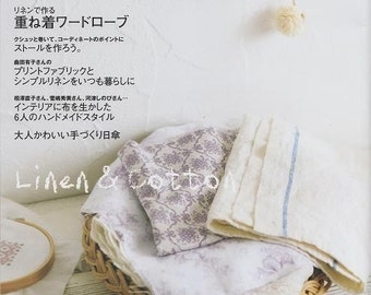 Craft Cafe LINEN and COTTON PART 4 - Japanese Craft Book