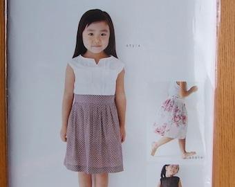 M103 KIDS TUCK Skirt from M Pattern - Japanese