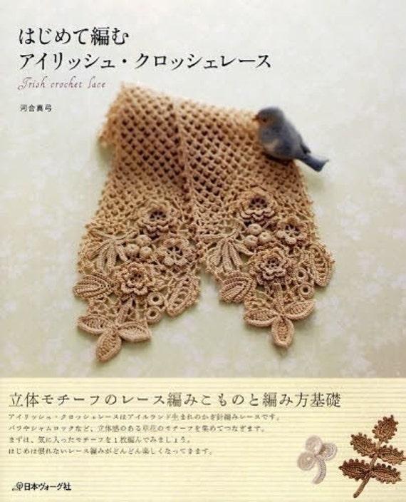 IRISH CROCHET LACE libro de arte japonés