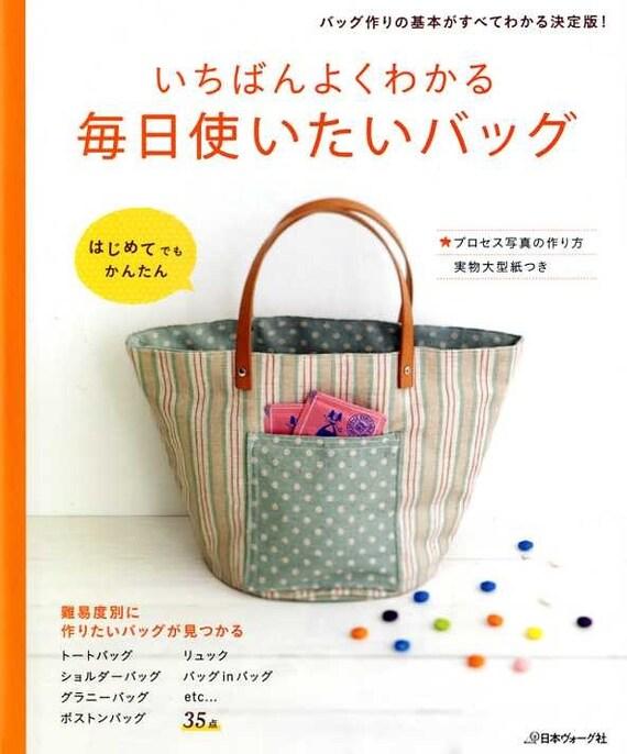 EASY Everyday Handmade Bags - Japanese Pattern Book