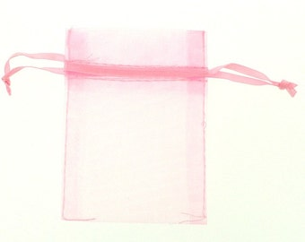 Small Organza Bag (2.5 x 3.5 inches) in BABY PINK - 20 Pieces - tw-ob-sml-07