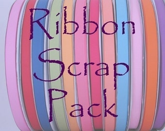 RIBBON SCRAP PACK - Over 20 yards of ribbon in the bag (Variety Pack)