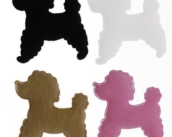 40 pieces - Padded Fleece Poodle Appliques - 4 Colors (40 pcs) - tw-020-x
