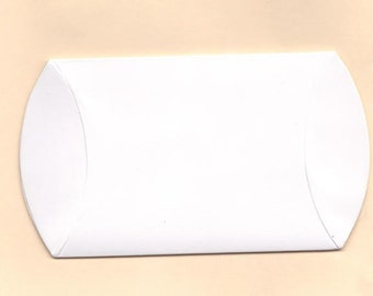 10 pieces Gift Box - Small Pillow Boxes in White - wholesale bulk wedding favor gift packaging