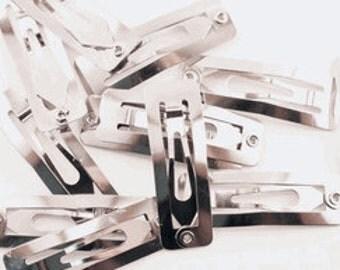 30mm Rectangular Snap Clips - 24 Pieces