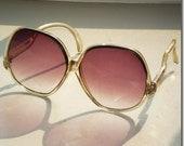 Vintage 70s OVERSIZE purple lense BOHO sunglasses
