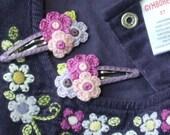 Royal Garden Handmade Hair Clips Made to Match Gymboree M2M