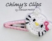 Kitty Handmade Hair Clip Chimy's Clips