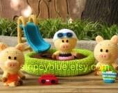 Piggy's Pool - PDF Crochet - Amigurumi Pattern - Instant Download