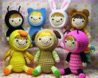 Amigurumi Costume Party - Crochet Pattern - Instant PDF Download