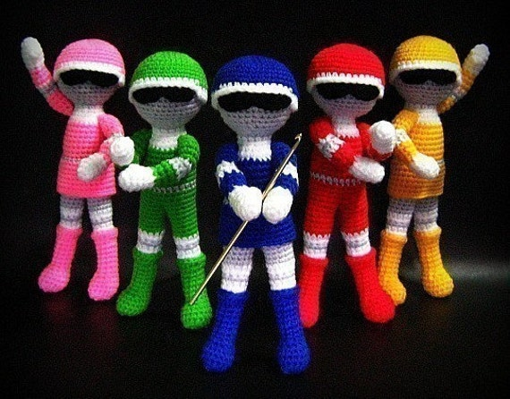Free Amigurumi Superhero Patterns : Superhero Team Amigurumi PDF Crochet Pattern