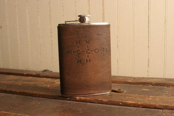 RESERVED for rbstewart111  - Element Flask - Leather in Antique Black