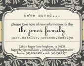 new address notice, moving, updating info -- We've Moved
