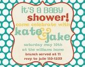 Baby Shower Invitation -- Bright Dots