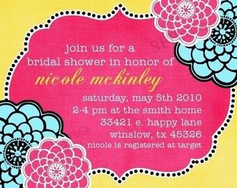 Bridal Shower Invitation -- Cheery Shower
