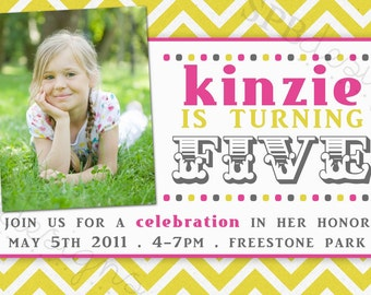 Birthday Party Invitation -- bright and fun