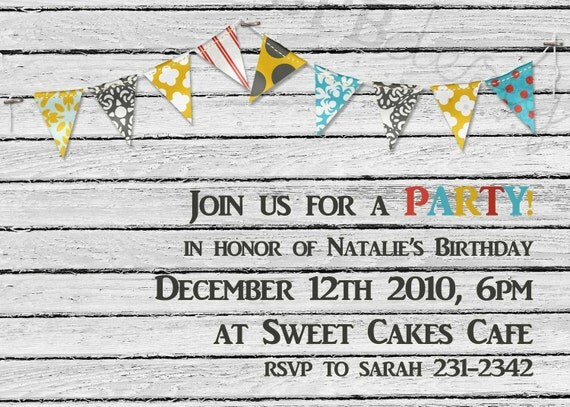 Party Invitation -- keep it classy