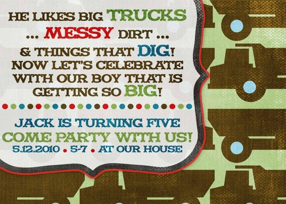 Items Similar To Birthday Party Invitation -- Big Boy