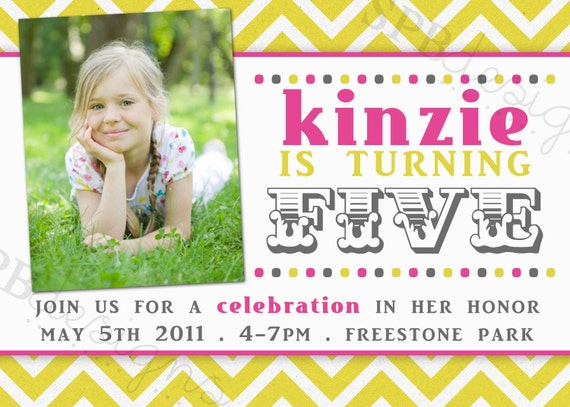 Birthday Party Invitation -- bright and fun