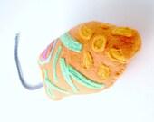 organic catnip euglena toy- orange