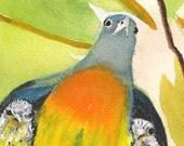 Dove Love - Original Watercolor 6 x 8