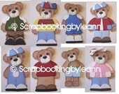 Tear Bear BOY Clothes Patterns and SVG Files Paper Piecing Scrapbooking Download