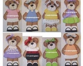 Tear Bear Clothes Patterns and SVG Files Paper Piecing Scrapbooking Download