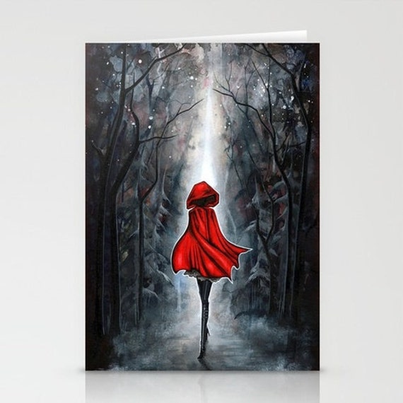 Little Red Riding Hood - Blank Card