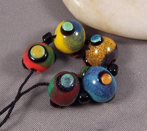 Monas Lampwork Bead Set - Bazinga