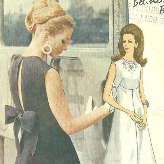 VOGUE COUTURIER 2112 Belinda Bellville -  1960s Evening Dress