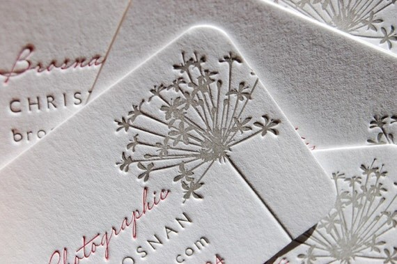 Letterpress Business Cards - LETTERPRESS - Calling Cards - Your Choice from 11 designs listed - 2 color- 200 cards