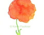 My Darling Clementine original watercolor flower painting 4x6 inches