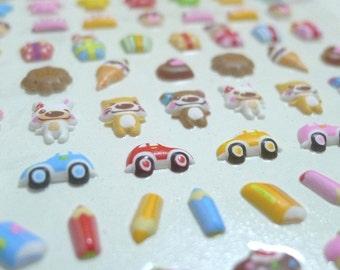 Kawaii Puffy Japanese Sticker - Little Happy Tea Party (1151)