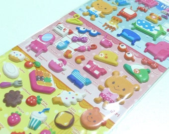Cute Puffy Japanese Sticker - Animal Dress Up - Home Sweet Home  (1181) by Mind Wave Inc - Great for 3D crafting as well