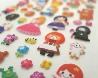 Kawaii Puffy Japanese Sticker - Bedtime Story - Fairy Tale Princesses (1191) by Mind Wave Inc.