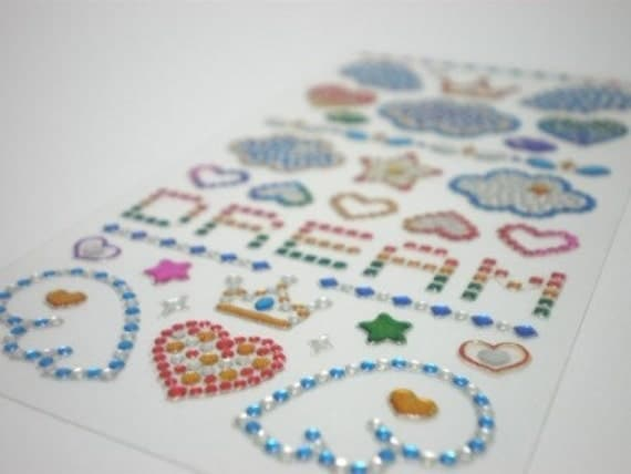 Gorgeous Korean Crystal Stickers - Shining Jewel Seals - Dreams (185)