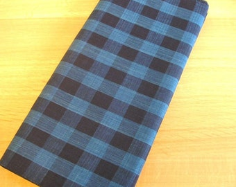Japanese High-quality Cotton Indigo Fabric (Check)