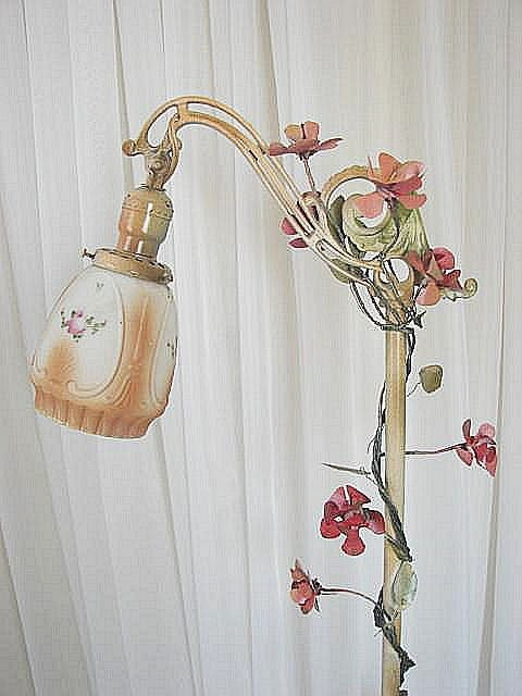 Vintage Shabby Cottage Chic Floor Lamp W By