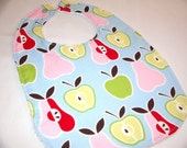 SALE --- Apples and Pears Sweet Bib for Your Little One ---- SALE