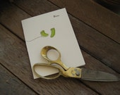 Baby Socks Green - Letterpress Card