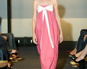 Pink Party Dress with Bow