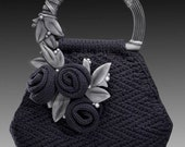 NEW PURSE BAG FREE KNITTING PATTERN WITH PURCHASE OF PEWTER TONED HANDLES