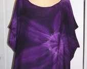 Tie Dye Art2wear Top in Deep Purple
