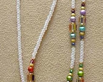 Rainbow Furnace Glass Eyeglass Chain Holder