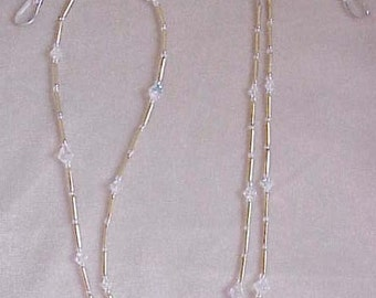 Handmade with SWAROVSKI CRYSTAL AB Eyeglass Chain Holder Only